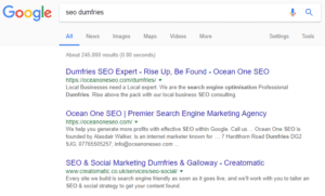 Dumfries SEO Services