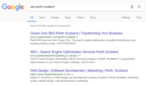 Perth Scotland SEO Services